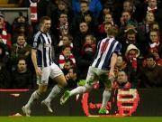 EPL: West Brom stun Liverpool for a 2-0 win