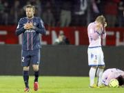 Beckham gets red card as PSG march on in Ligue 1
