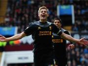 Inspirational Gerrard helps Liverpool down Villa