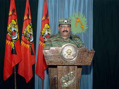 A file image of LTTE leader Prabhakaran. Reuters