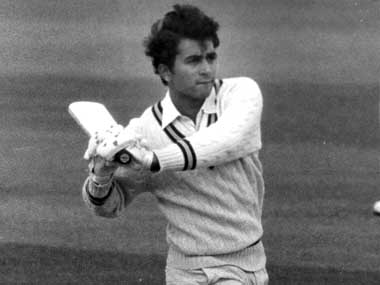 Indian cricketer Sunil Gavaskar in action batting. Photo by Evening Standard/Getty Images