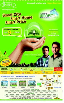 Ad by Amrapali. Image screengrab from TOI ad.