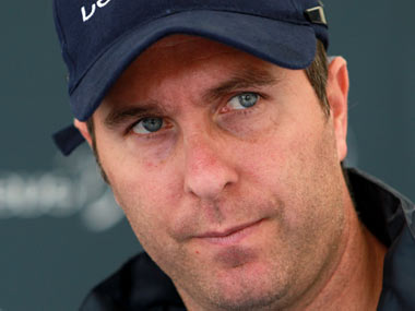File image of Michael Vaughan. Getty Images