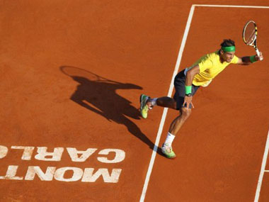 Nadal in action during the French Open. AFP