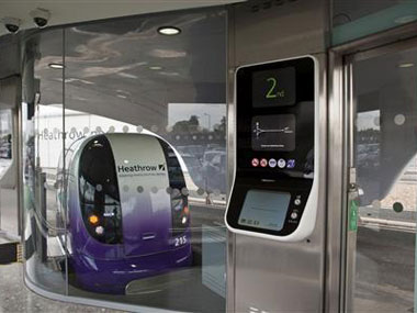 The future is here super fast laserguided pods available at Heathrow