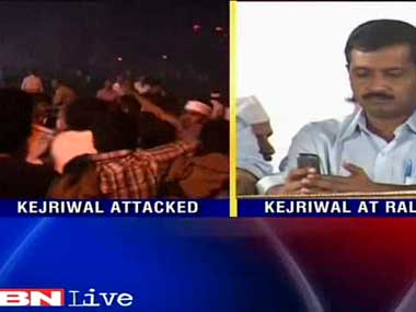 Unfazed by slipper attack, Kejriwal urges for peaceful talks with ...