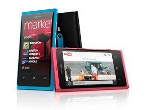 Nokia's Lumia 800. Its first Windows Phone smartphone.