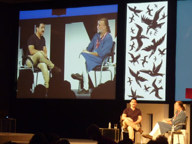 Aamir Khan in conversation with Tarun Tejpal at the Goa Thinkfest. Sandip Roy/Firstpost