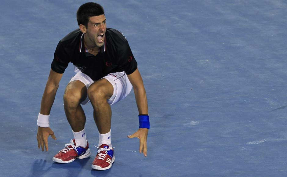 In images: Djokovic's reactions after his epic Aussie Open win