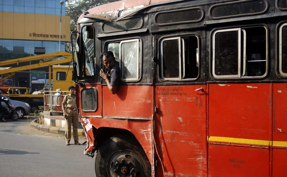 Images: Bus driver goes on a rampage in Pune, kills 9