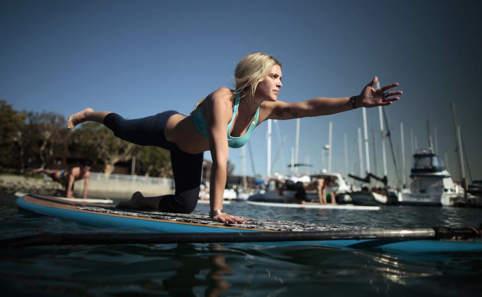 Images: Stop and stretch, with Yoga