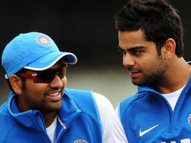 Rohit Sharma and Virat Kohli are the young stars of Indian cricket. AFP