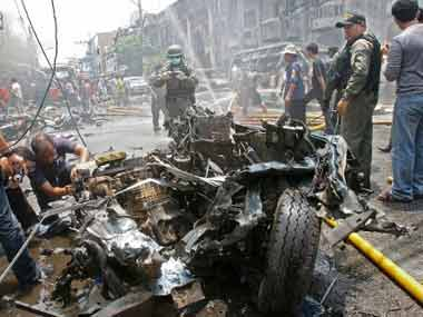 9  killed 70 injured in blasts in south Thailand