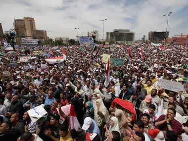 Tahrir Square Thousands gather to protest Egypts military rule