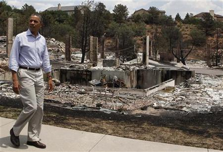 Obama Pledges Federal Aid On Colorado Wildfire Visit