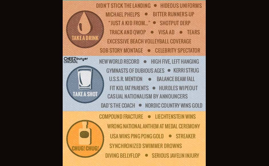 Image: Play the great Olympics drinking game!
