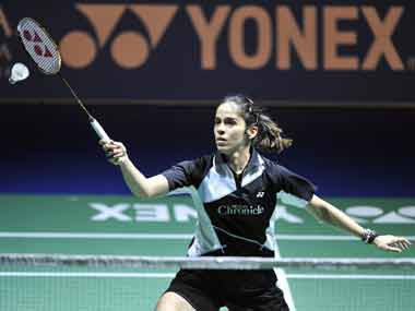 File picture of Saina Nehwal. AP