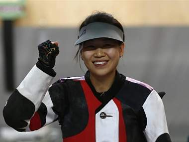 China's Yi Siling won the first gold of the Games. Reuters