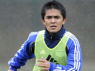 File picture of India's Sunil Chhetri. Reuters