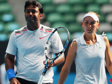 Leander Paes and Elena Vesnina are through to the semis. Reuters