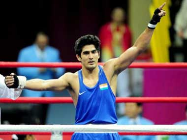 Vijender Singh has a big prize awaiting him if he wins. AFP
