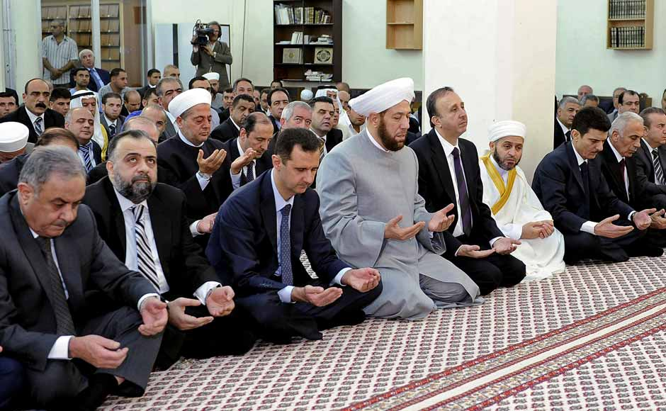 Images: Syria's Assad makes rare public appearance on Eid