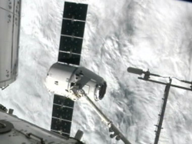 The SpaceX Dragon capsule. AP