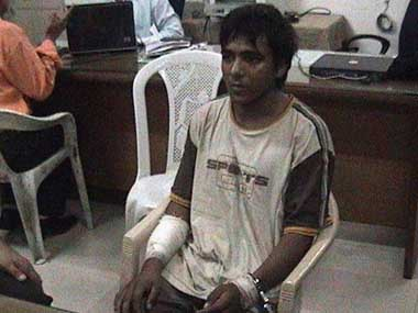 Kasab is the only gunman involved in the attack to have been caught alive. Screen grab from CNN-IBN