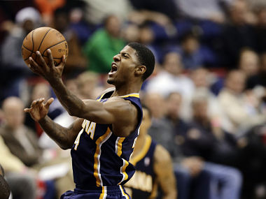 File picture of Indiana Pacers forward Paul George. AP