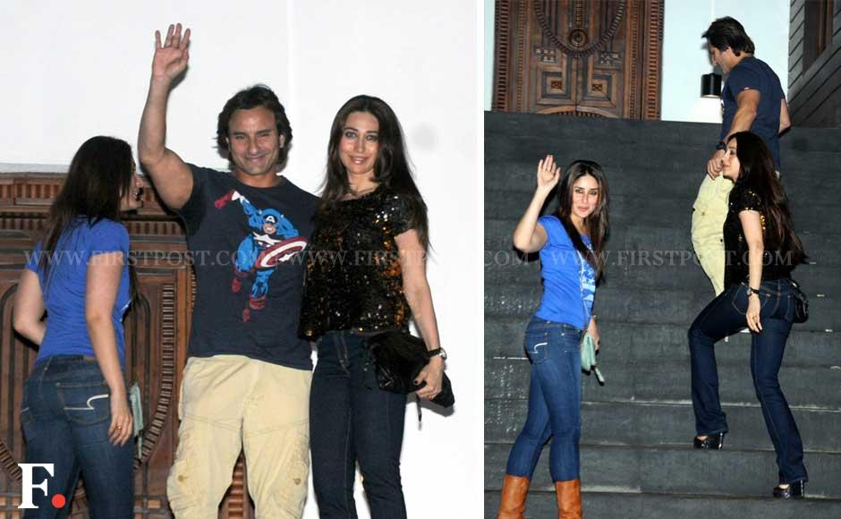 Images Kareena Saif attend Imran and Aamir Khans party