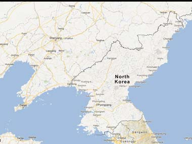 Screen shot of Google Maps, North Korea