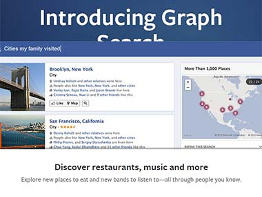 Screengrab of Facebook Graph Search.