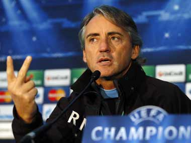 Mancini has only the EPL title to play for. Reuters