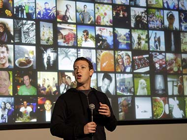 Mark Zuckerberg at the launch of Graph Search. AP