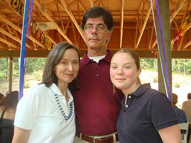 Kia Scherr (left) with her husband Alan, 58, and daughter, Naomi, 13, a few months before they were killed in the attacks on the Oberoi Trident Hotel in Mumbai.