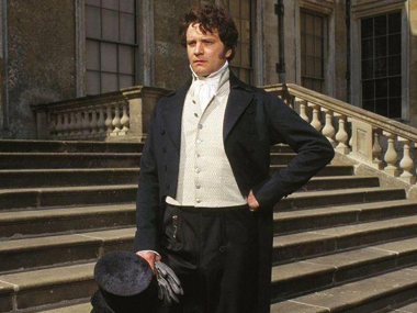Colin Firth as Fitzwilliam Darcy in BBC's 1995 TV series adapted on Pride and Prejudice