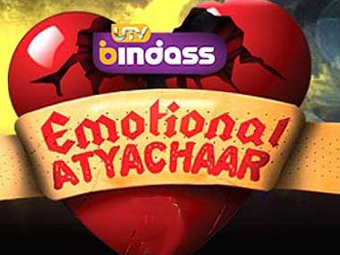 The logo for the show Emotional Atyachaar.