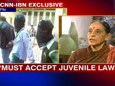 Leila Seth said that one must accept the juvenile law. IBNLive.