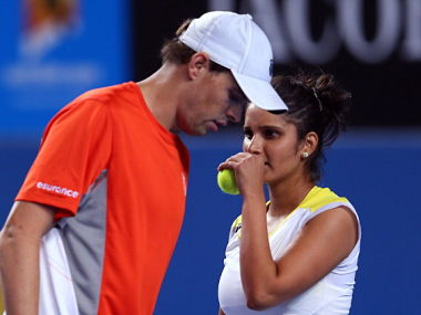 File picture of Sania Mirza and Bob Bryan. Getty Images
