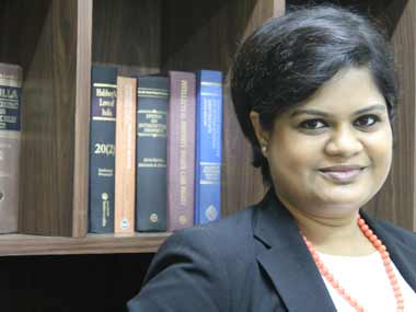 Shwetasree Majumder has worked pro bono on gender related cases in the past. Naresh Sharma/ Firstpost