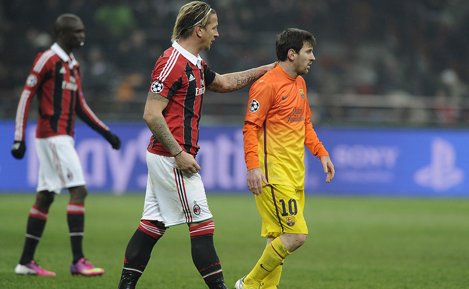 Images: AC Milan stun Barca 2-0 in Champions League