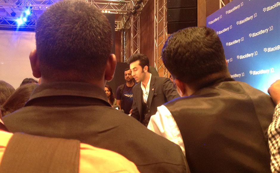 Ranbir Kapoor at the BB 10 launch in India.