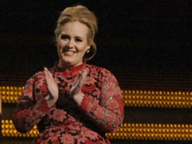 Adele at the Grammy awards this year: AP