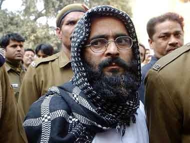 Just before Afzal Guru was to be hanged he had asked for a pen and paper to write the letter to his wife. AFP