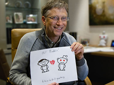 Bill Gates' Reddit AMA. Image courtesy: Reddit.