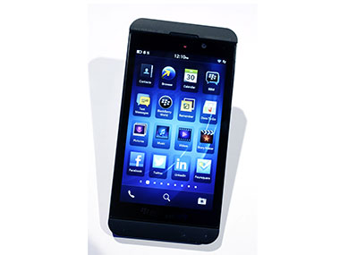 The BlackBerry Z10 in this file photo. AP