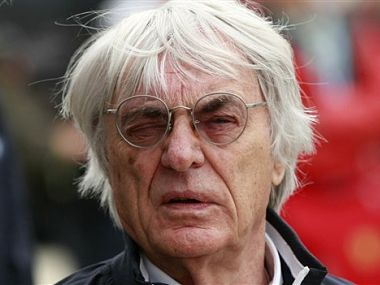 File photo of Formula One boss Bernie Ecclestone. AP