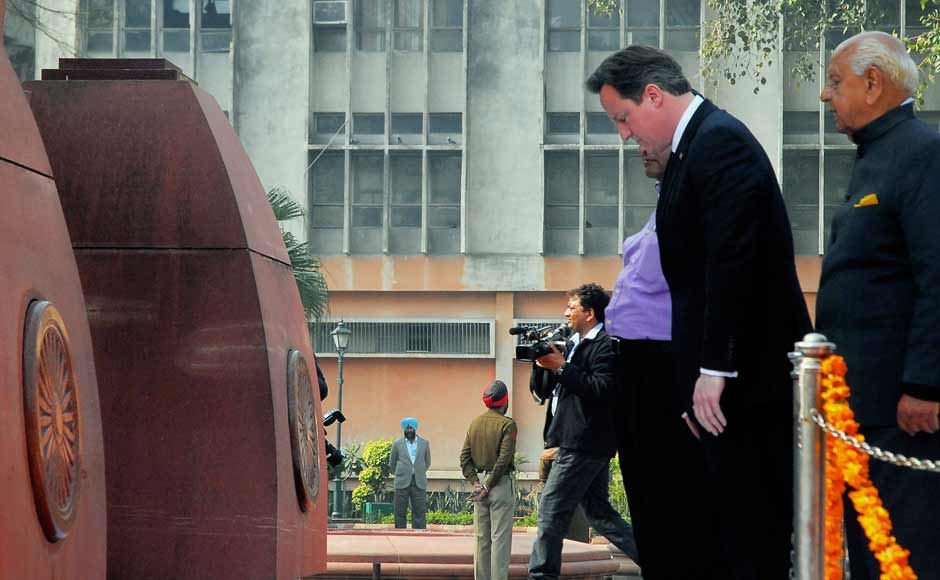 UK Prime Minister David Cameron today visited Jallianwala Bagh where he said the incident that took place in 1919 was a 'shameful event'. The PM did not make a statement and chose to write in the visitors book instead. AP