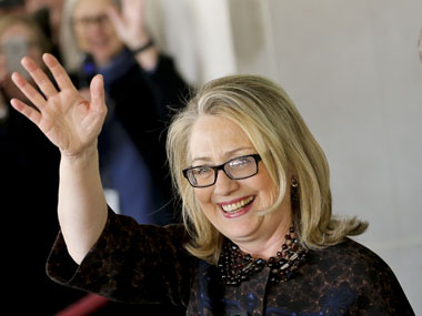 Clinton also left office with a slap at critics of the Obama administration's handling of the September attack on a U.S. diplomatic mission in Libya. AP