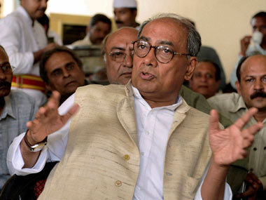 "Digvijay Singh said that the Leader of the Opposition was ""repaying the debt"" to Modi for giving him a seat in Rajya Sabha. PTI"